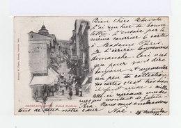Sur Carte Postale Constantinople Type Sage 10 C. Noir Et Lilas. CAD Constantinople 1901. CAD Valence Sur Rhône. (861) - 1858-1921 Empire Ottoman