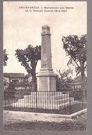 CHAMAGNIEU : Monument Aux Morts Carte RARE - Frankreich