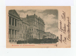 Sur Carte Postale Constantinople Type Sage 5 C. Vert. CAD Constantinople 1900. CAD Valence Sur Rhône. (861) - 1858-1921 Ottoman Empire