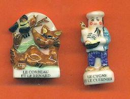 Lot De 2 Feves De La Serie Bonjour Maitre De La Fontaine 2000 - Geschiedenis