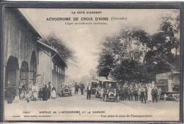 Carte Postale 33. Croix D'Hins  L'aérodrome Jour De L'inauguration   Très Beau Plan - France