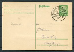 1935 North German Line Ship Stationery Postcard, Deutsche Schiffspost NDL BERLIN Polarfahrt, Polar Cruise - Briefe U. Dokumente