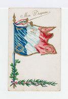Sur Carte Postale Trois Types Mercure 40 C. Violet Surchargés RF. CAD Lyon Gare 1945. Lignes Ondulés Continues. (863) - Libération