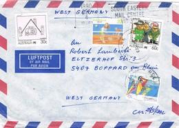 30521. Carta Aerea RELIEF (Victoria) Australia 1975 To Germany - 1966-79 Elizabeth II