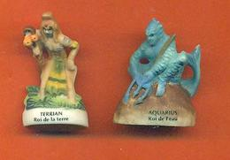 Lot De 2 Feves De La Serie Les Rois Des éléments 2002 - Mat - Strips