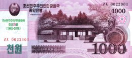 North Korea 1.000 Won, P-NEW (2018) - 70 Years DPRK Commemorative Note - (UNC) - Korea (Nord-)