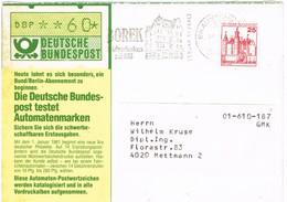30522. Tarjeta BRAUNSCHWIEG (Alemania Federal) 1981. BOREK Briefmarkenhaus - [7] República Federal
