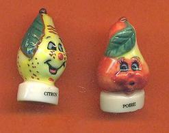 Lot De 2 Feves De La Serie Rigolos Les Fruits - Charms