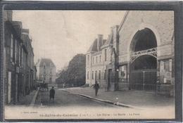 Carte Postale 35. Saint-Aubin-du-Cormier  La Poste Les Halles La Mairie Très Beau Plan - France