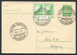 1937 North German Line Ship Stationery Postcard, Seepost Deutsche Schiffspost NDL STUTTGART Englandfahrt. - Briefe U. Dokumente