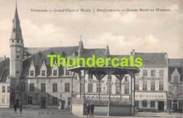 CPA TERMONDE GRAND PLACE ET MUSEE DENDERMONDE GROOTE MARKT EN MUSEUM - Dendermonde