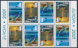 Mi 494-95 D Booklet CEPT Europa Life-giving Water / Caspian Sea Seal Phoca Caspica Sturgeon Sterlet Acipenser Ruthenus - Azerbaïjan
