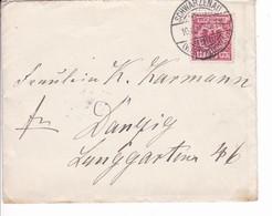Brief Schwarzenau Westpreussen 10.11.1899 Nach Danzig - Danzig