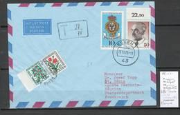 Reunion - Lettre D'Allemagne - Taxée Mixte Timbre CFA Et Métropole - 1975 - Reunion Island (1852-1975)
