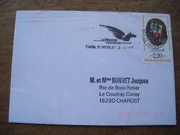 Mayenne 1989 Laval St Nicolas, élargissez Vos Horizons (cheval Ailé, Pégase Pegasus) (Saint Nicholas) - Storia Postale