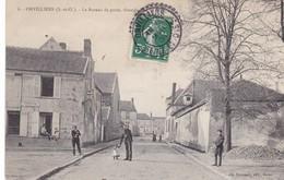 ORVILLIERS,,,,,, LE BUREAU DE POSTE ,,,, GRANDE  RUE ,,,,,JOLI CACHET ,,,,TBE ,,,voyage 1908 - Postal Services