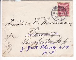 Brief Christburg 28.3.1899 Nach Danzig Weiterleitung Nach Schwetz - Danzig