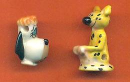 Lot De 2 Feves De La Serie Pendentifs TV - Droopy Et Le Marsupilami - Cartoons