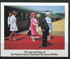 Samoa ** Bloc 35 - 85ans De La Reine Mere Elizabeth - Samoa