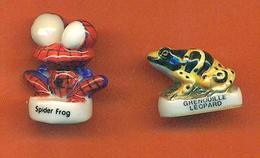 Lot De 2 Feves De La Serie Les Froggies 2005 - Grenouille Léopard Et Spider Frog - Cartoons