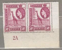 UGANDA KENYA TANGANYIKA 1954 Pair Corner MNH(**)  Mi 98 SG 173 #23382 - Kenya, Uganda & Tanganyika