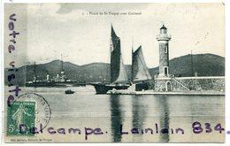 - 2 - Phare De Saint-Tropez - Avec Cuirassé, Barques De Pêche, Bateau, écrite, 1905, Peu Courante, TTBE, Scans. - Saint-Tropez