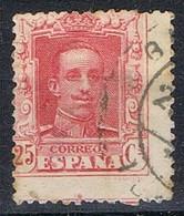 Sello 25 Cts Vaquer,  VARIEDAD Descentrado, Num 317 º - 1889-1931 Reino: Alfonso XIII