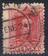 Sello 25 Cts Vaquer,  Fechador ALCAÑIZ (Teruel), Num 317 º - 1889-1931 Reino: Alfonso XIII