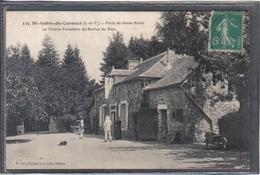 Carte Postale 35. Saint-Aubin-du-Cormier  Maison Forestière Du Rocher Du Parc  Très Beau Plan - France