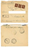 RACCOMANDATA DA MINERBIO A CODIPONTE 17/02/1944 PORTO LIRE 2.25 (3/37) - 1900-44 Victor Emmanuel III