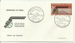 FDC Tchad 19 Nov 1963 DC 8 Air Afrique - Chad (1960-...)