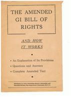USA GI Bill Of Rights - Fuerzas Armadas Americanas