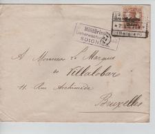 JS615/ Guerre-Oorlog 14-18 TP Oc 15 S/L.c.Braine Le Comte 1917 Censure Soignies V.BXL - WW I
