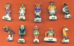 Série Complète De 10 Feves Super Baloo - Disney