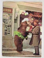 2864  Filatov Trainer With A Bear In A Skirt  Soviet Circus Afisha Billboard - Cirque