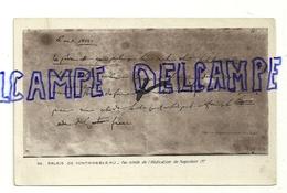 Fac -simile De L'Abdication De Napoléen 1er. Palais De Fontainebleau. Verso : Cachet Editions Musées Nationaux - Personnages