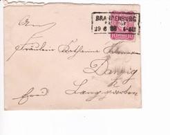 Brief Brandenburg Kastenstempel 29.6.1888 Nach Danzig - Danzig