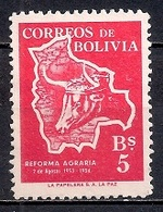 Bolivia 1954 - The 1st Anniversary Of The Agrarian Reform - Bolivia