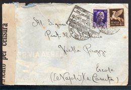 ITALY KINGDOM ITALIA REGNO 1943. POSTA MILITARE (CENSURA) ERCOLE NAPOLI LETTERA COVER - Italia