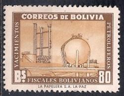 Bolivia 1955 - Development Of Petroleum Industry - Bolivia