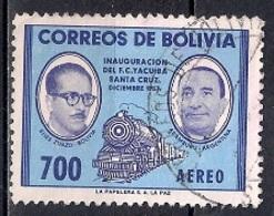 Bolivia 1957 - Airmail - Yacuiba-Santa Cruz Railway Inauguration - Bolivia