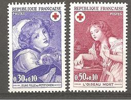 """FR 1971  YT 1700 & 1701 """" Croix Rouge """"  Neuf** - France"""