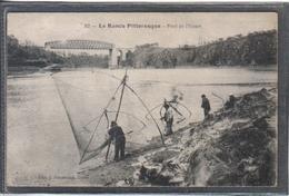Carte Postale 35. Pont De L'Essart  La Pêche Aux Carrelets Très Beau Plan - France