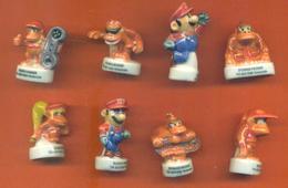 Série Complète De 8 Feves Super Mario Nintendo - Cartoons