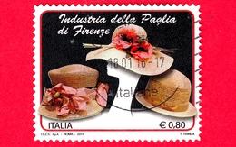 ITALIA - Usato - 2014 - Industria Della Paglia Di Firenze - Cappelli Di Paglia - Straw Hats - 0,80 - 6. 1946-.. Republik