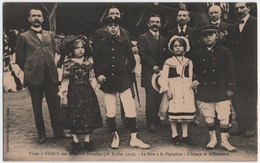 NANCY (54) VISITE à NANCY Des MINISTRES LORRAINS ( 28 JUILLET 1912 ) LA FETE à La PEPINIERE. L'ALSACE Et La LORRAINE. - Nancy