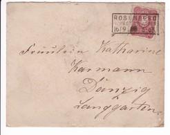 Brief Rosenberg Kastenstempel 19.9.1888 Nach Danzig - Danzig