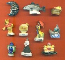 Lot De 10 Feves Diverses - Winnie - Dauphin ... - Charms