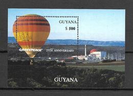 Guyana 1996 GreenPeace Anniversary - Ballons MS MNH (DMS03) - Guyana (1966-...)