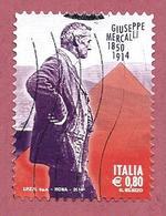 ITALIA REPUBBLICA USATO - 2014 - Centenario Della Morte Di Giuseppe Mercalli - € 0,80 - S. 3543 - 2011-...: Usati